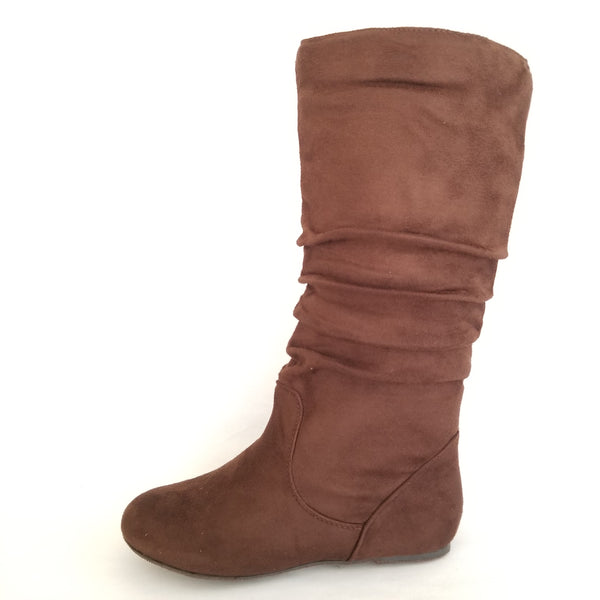 Didi Royale | Online Women's Boutique | Shoes | Data Flat Heel Suede Mid-Calf Boots
