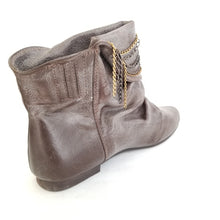 Leah distressed faux leather boots - Didi Royale