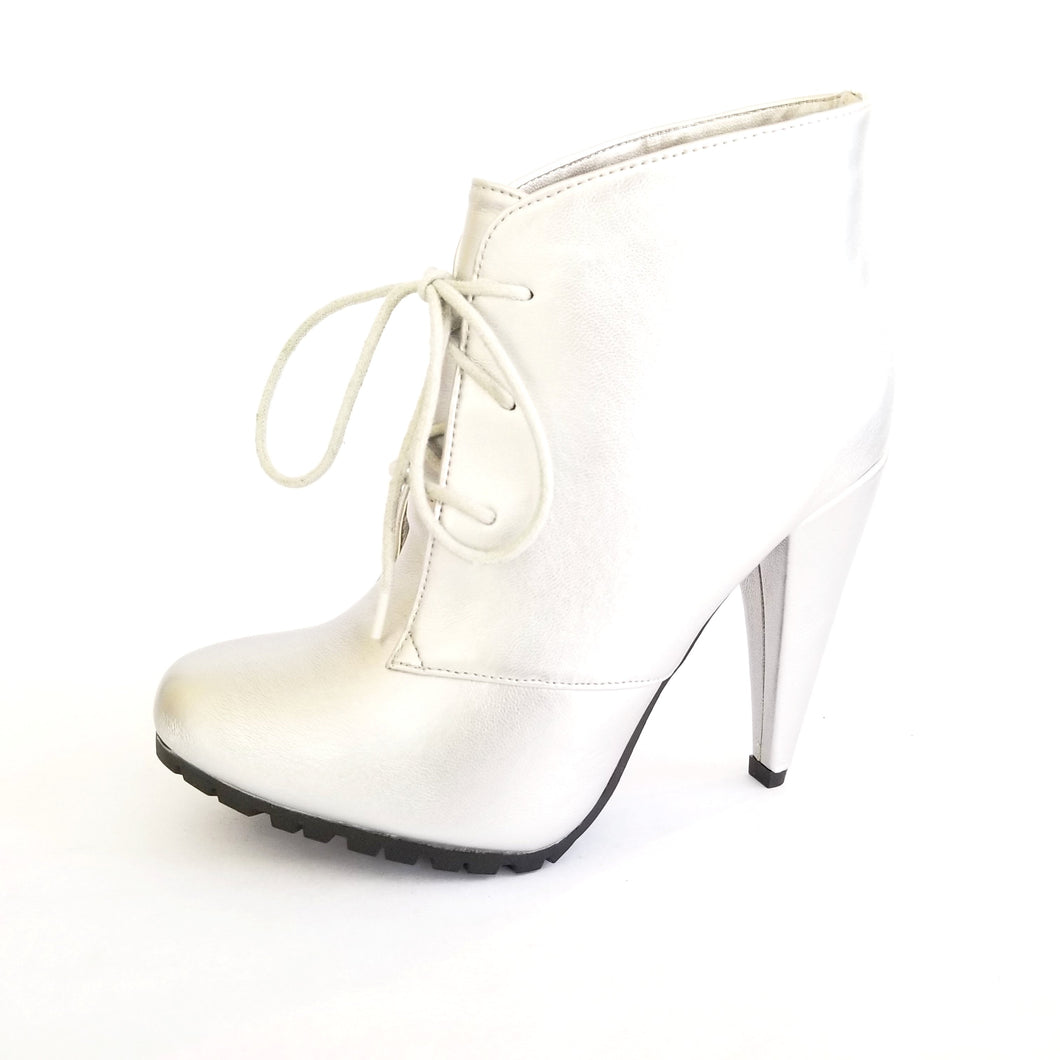 Didi Royale | Online Women's Boutique | Shoes | Vicky Silver High Heel Boots