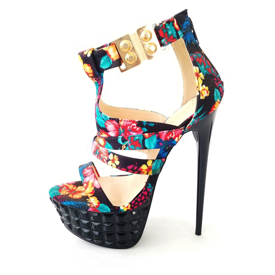 Didi Royale | Online Women's Boutique | Shoes | Sigrid Floral High Heel Sandals