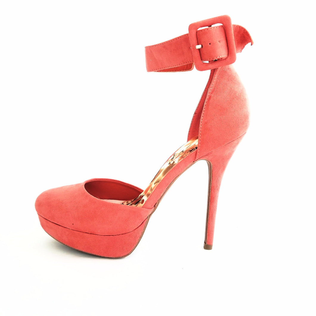 Didi Royale | Online Women's Boutique | Shoes | Sonny Coral Orange Open Side Pumps