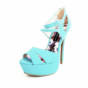 Didi Royale | Shoes | Jacklyn Blue High Heel Sandals