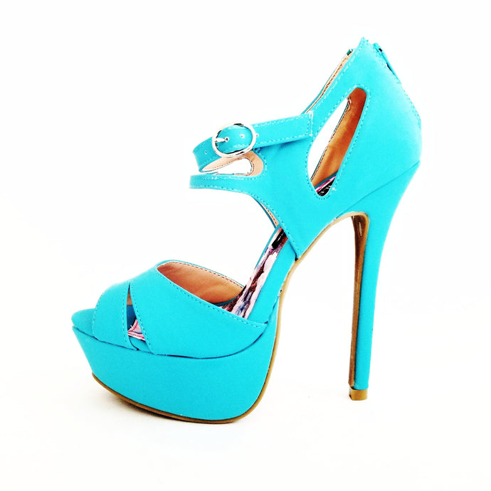 Didi Royale | Online Women's Boutique | Shoes | Jacklyn Blue High Heel Sandals
