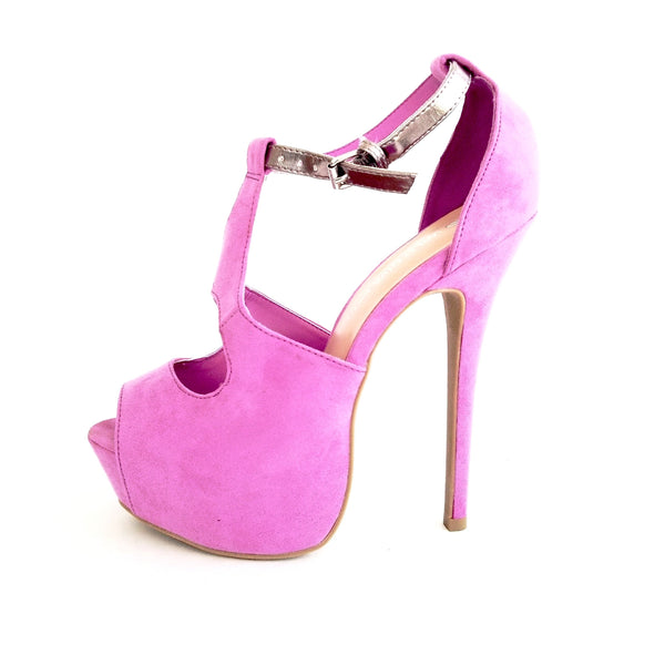 Jacklyn Lavender High Heel Sandals - Didi Royale