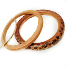 Melany Gold And Wooden Bracelet Set - Didi Royale