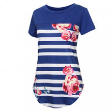 Didi Royale | Online Women's Boutique | Clothing | Fiona Floral Printed Striped T-Shirt