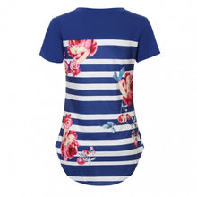 Didi Royale | Online Women's Boutique | Clothing | Fiona Floral Print Striped T-Shirt