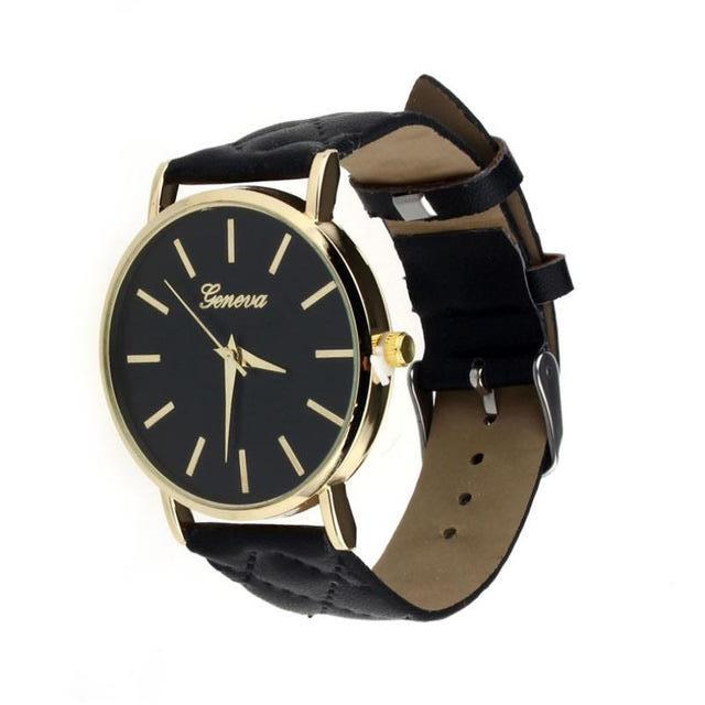Didi Royale | Online Women's Boutique | Accessories | Geneva Black Plush Stitched Watch