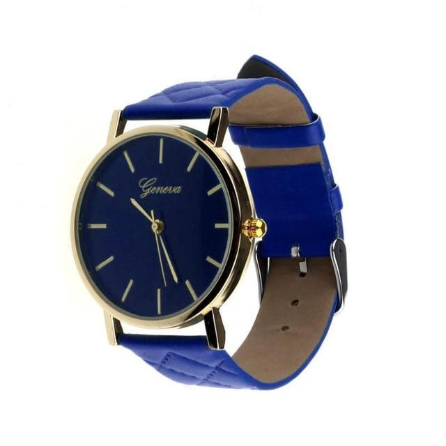 Didi Royale | Online Women's Boutique | Accessories | Geneva Blue Plush Stitched Watch