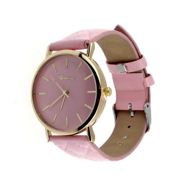 Didi Royale | Online Women's Boutique | Accessories | Geneva Pink Plush Stitched Watch