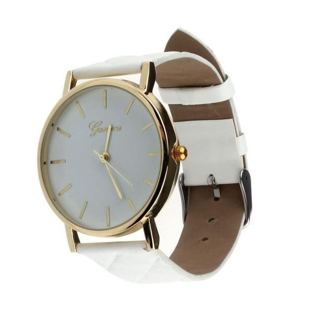 Geneva White Plush Stitched Watch - Didi Royale