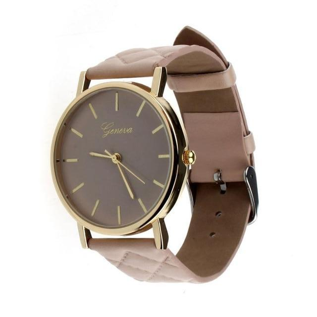 Didi Royale | Online Women's Boutique | Accessories | Geneva Beige Plush Stitched Watch