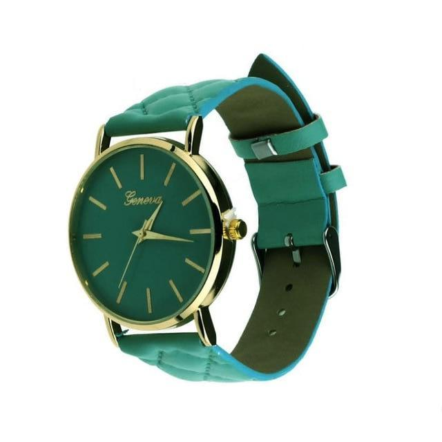 Didi Royale | Online Women's Boutique | Accessories | Geneva Green Plush Stitched Watch