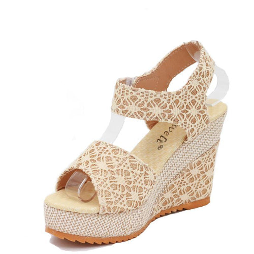 Didi Royale | Online Women's Boutique | Shoes | Nenita Fish Head Pattern Wedges