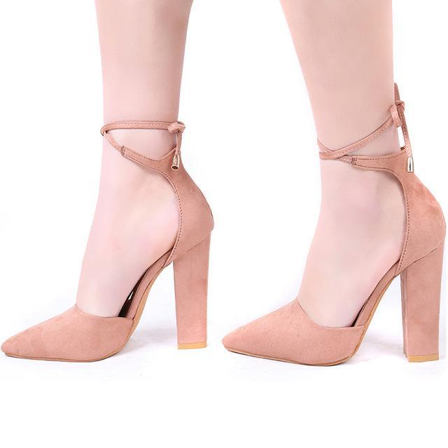 Didi Royale | Online Women's Boutique | Shoes | Kiersten Pointed Toe Strappy Pumps