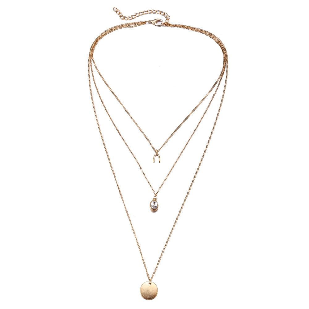 Chasity Gold Layered Necklace - Didi Royale