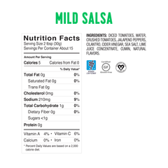<b><big> Low FODMAP Salsa - Mild </big></b> <br> <small> Made in USA</small>