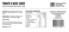 <b><big> Low FODMAP Tomato & Basil Sauce </big></b> <br> <small> Made in Italy</small>