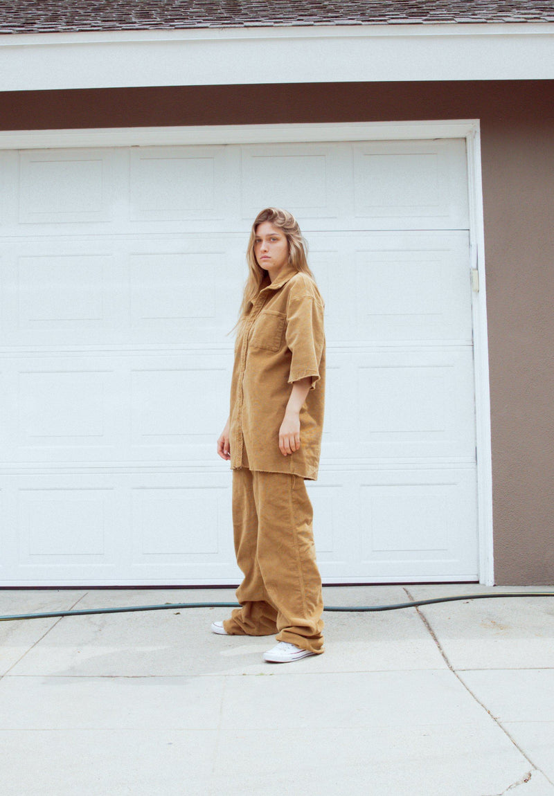 Drew Corduroy Carpenter Pants - Camel