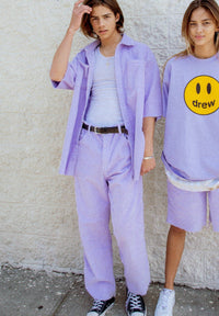 Drew Corduroy Carpenter Pants - Lavender