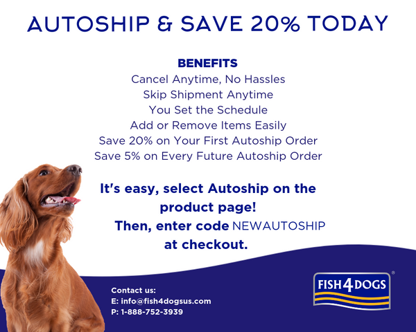Autoship and Save with Fish4Dogs