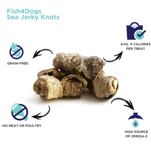 Fish4Dogs Sea Jerky Knots Infographic