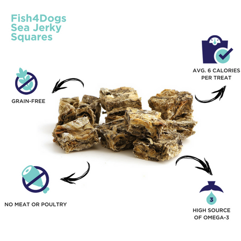 Fish4Dogs Sea Jerky Squares Infographic