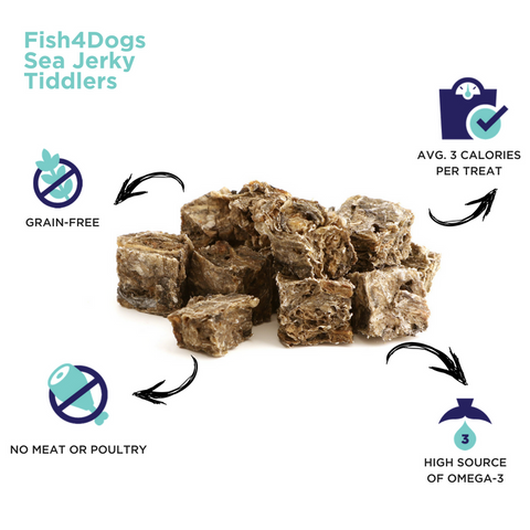 Fish4Dogs Sea Jerky Tiddlers Infographic
