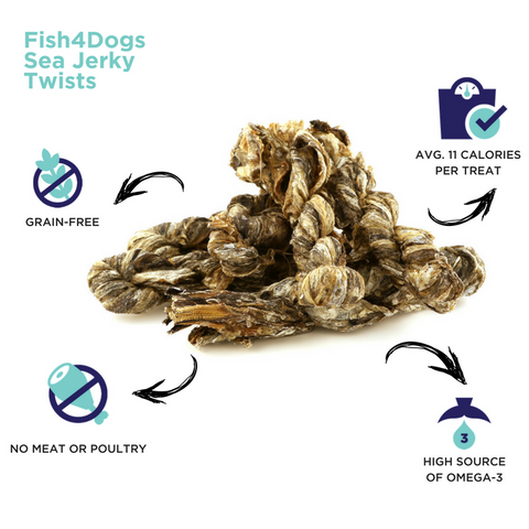 Fish4Dogs Sea Jerky Twists Infographic