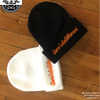 "Orange Embroidered ""DareToBeDifferent""  Knitted Skully"