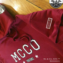 """MCCO Peace Now"" Burgundy Hooded SweatSuit"