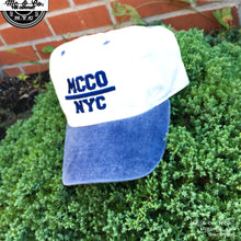 "Ash Denim ""MCCO NYC"" Two Tone Embroidered Dad Hat"