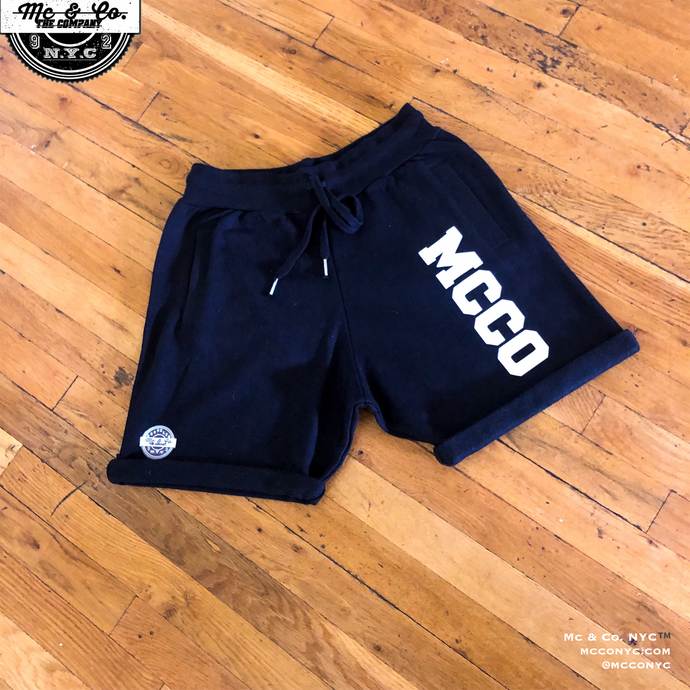 "Black ""MCCO"" French Terry Shorts"