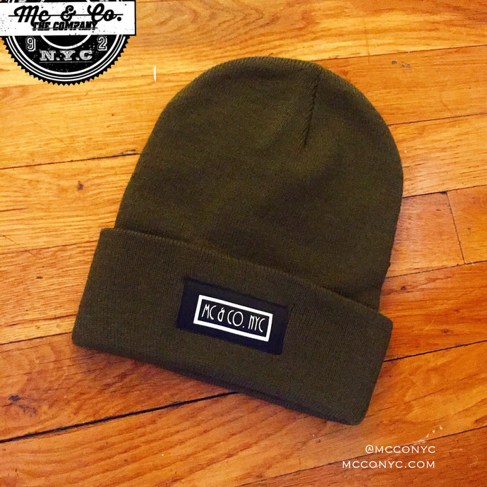 Mc & Co. NYC Signature Olive Green Knitted Skully Hat