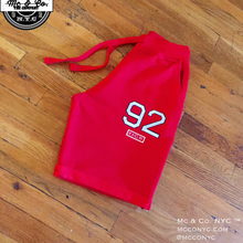 "Red Signature ""92 "" Embroidery Shorts"