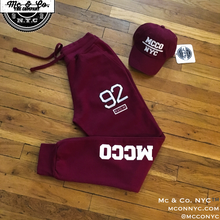 "Embroidered ""MCCO 92"" Joggers"