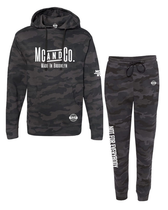 "Made In Brooklyn ""Black Camo"" Jogger Set"