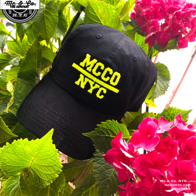 Neon Yellow MCCO NYC Dad Hat