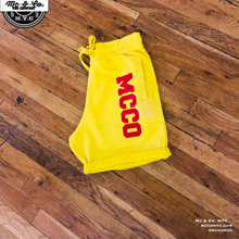 Yellow MCCO French Terry Shorts