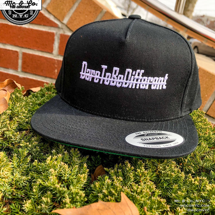 """DareToBeDifferent"" Five Panel Snap Back"
