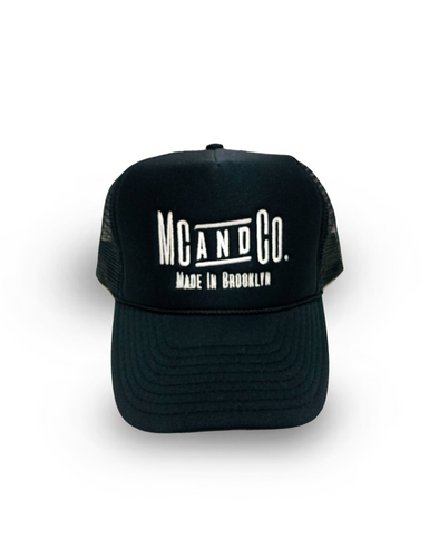 "Black ""Made In Brooklyn"" Trucker Hat"