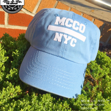 "Baby Blue ""MCCO NYC"" Dad Hat"