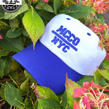 "Royal Blue ""MCCO NYC"" Two Tone Embroidered Dad Hat"