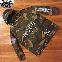 "Unisex ""MCCO"" Embroidered Hooded Camo Poncho Jacket"