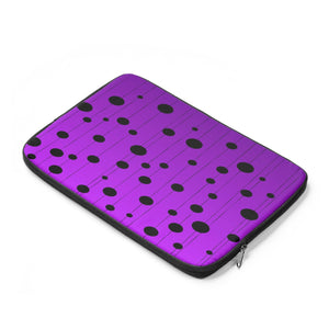 Laptop Sleeve, Carry Bag, 3 sizes - Dots on strings, purple