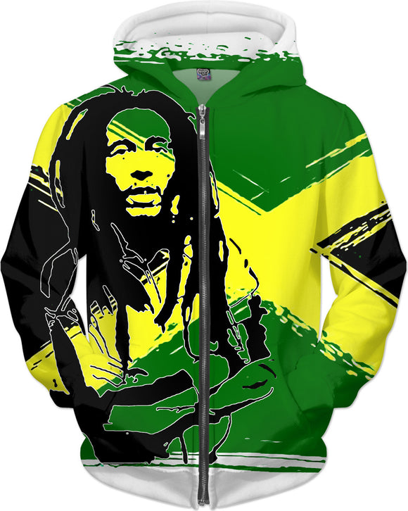 Feeling sunny Rasta, green - jamaica flag, reggae music hoodie design