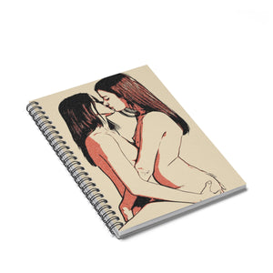 Spiral Notebook - Ruled Line - Girls love to play Dirty, lesbians kissing