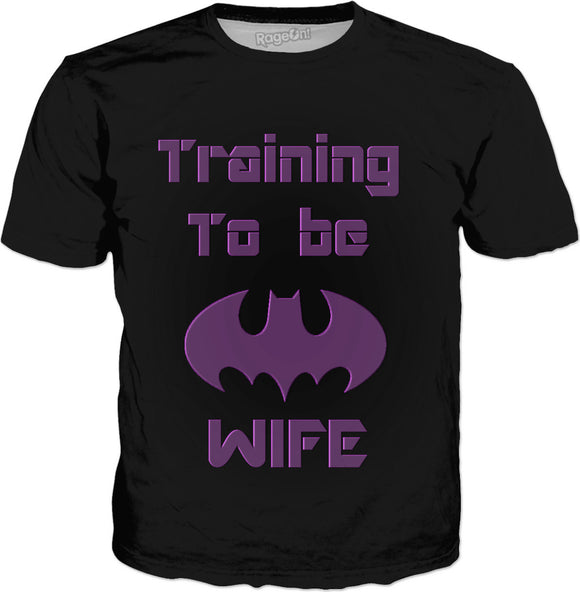 Training to be The Bat's wife, funny classic t-shirt, black tee