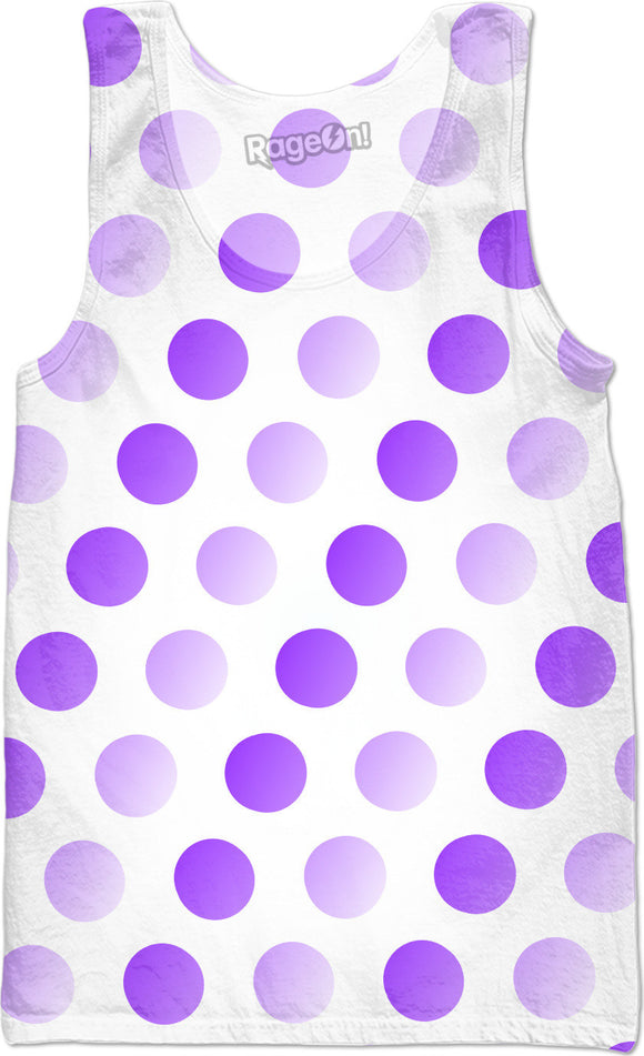 Purple, violet, two color tones polka dot pattern, classic, vintage pattern Tank top shirt design