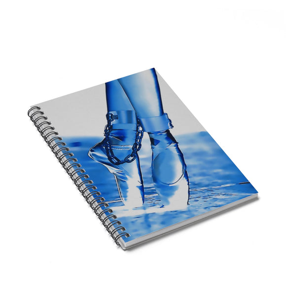 Spiral Notebook - Ruled Line - Dance baby, dance. BDSM ballerina